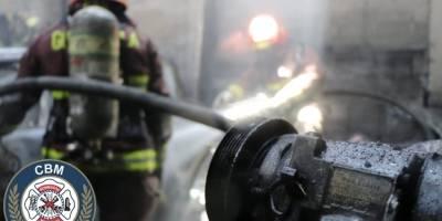 incendio en fábrica de la zona 8