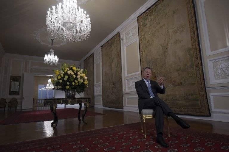 Juan Manuel Santos en entrevista