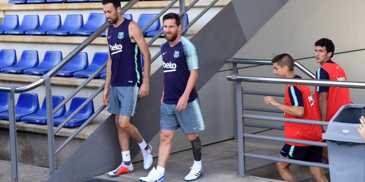 Tras sus vacaciones, Messi se incorpora a la pretemporada del Barcelona