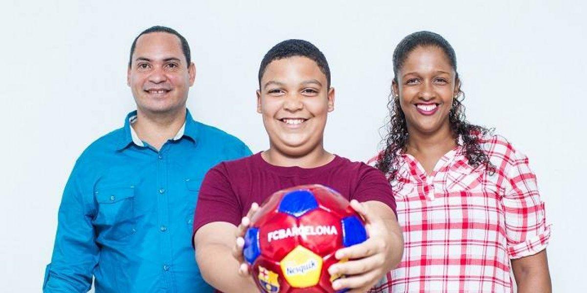 Niño de RD vivirá experiencia deportiva en el Barcelona FC