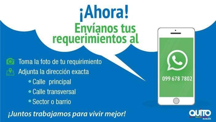 Obras Quito por WhatsApp