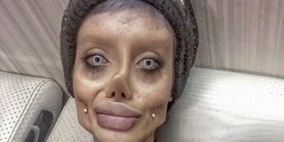 """FOTOS. La Angelina Jolie """"terrorífica"""" revela su verdadero rostro"""
