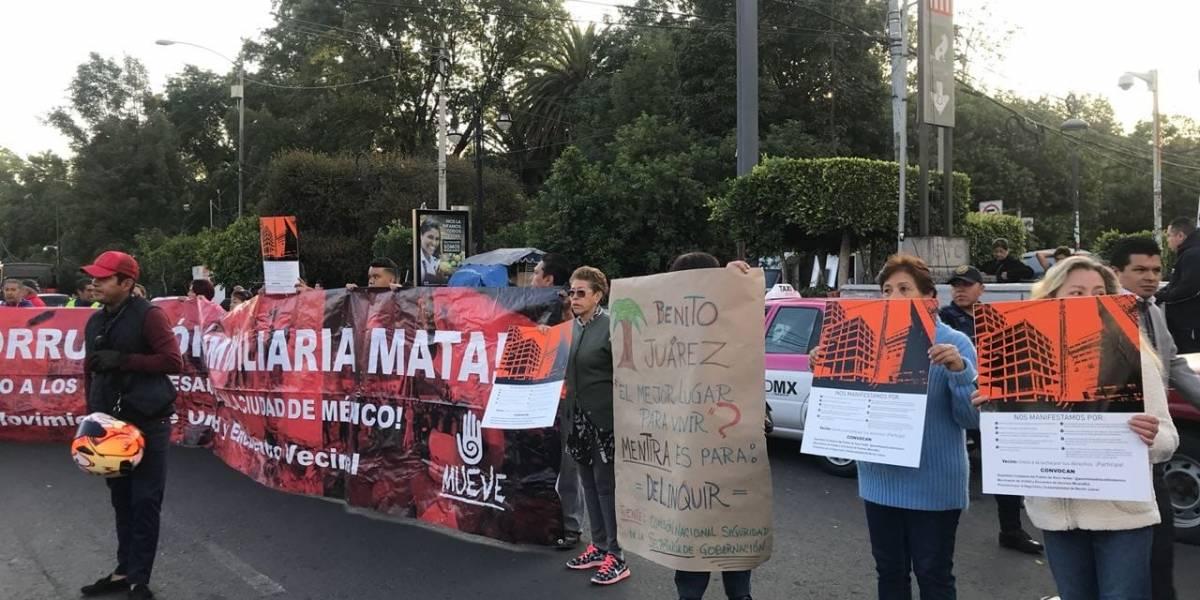 Vecinos de la BJ protestan contra construcción de la Torre Mitikah
