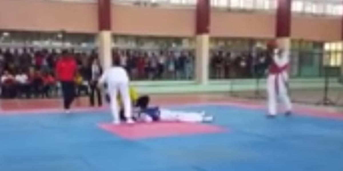 ¡Impactante! Joven deportista murió durante pelea de taekwondo
