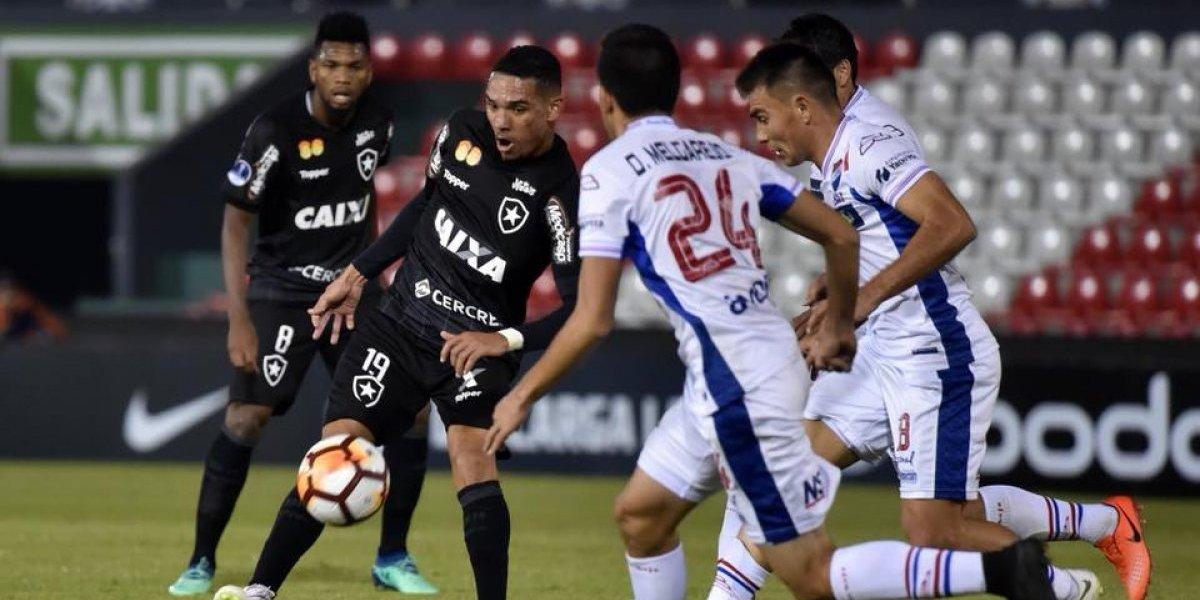 El Botafogo de Leo Valencia complicó sus opciones tras caer de visita ante Nacional de Paraguay