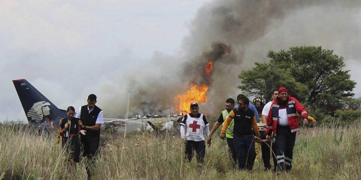 """""""Sentíamos las llamas, estaban viniendo rápidamente"""": así vivieron los sobrevivientes del avión de Aeroméxico el milagro de Durango"""