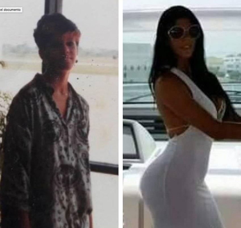 la foto del antes y después de