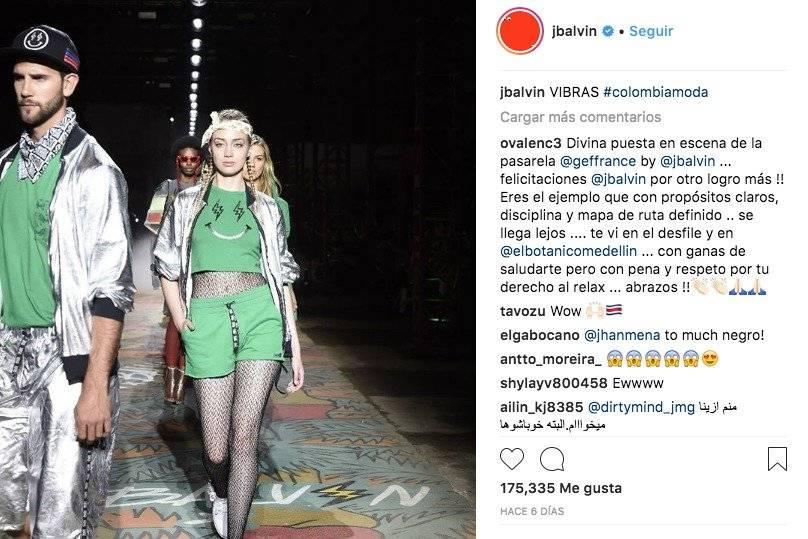 Colombiamoda, J Balvin Instagram