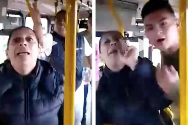 Video de la mujer que agrede conductor del Sitp porque no la dejó colar