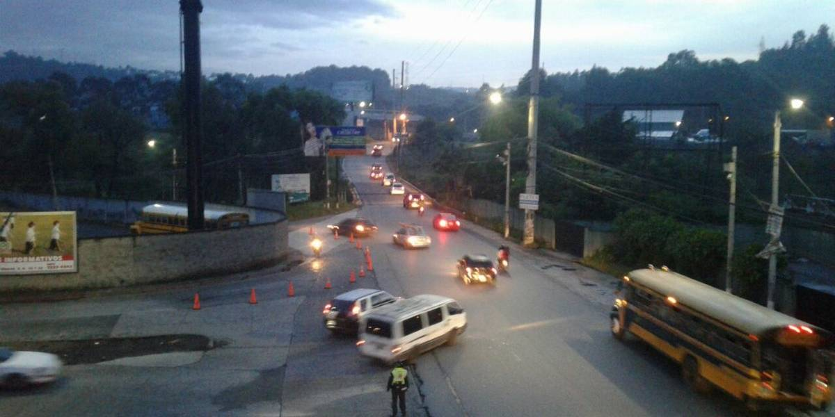 Falsa alarma de incendio en Villa Nueva, complicó el tránsito