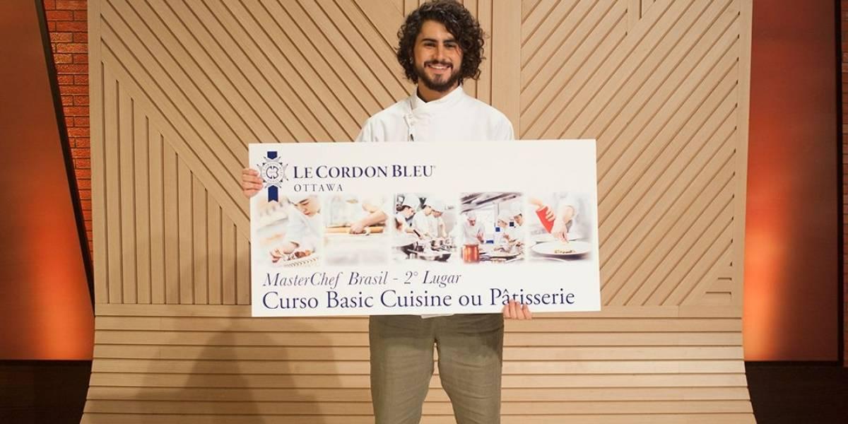 Hugo é vice-campeão do MasterChef Brasil