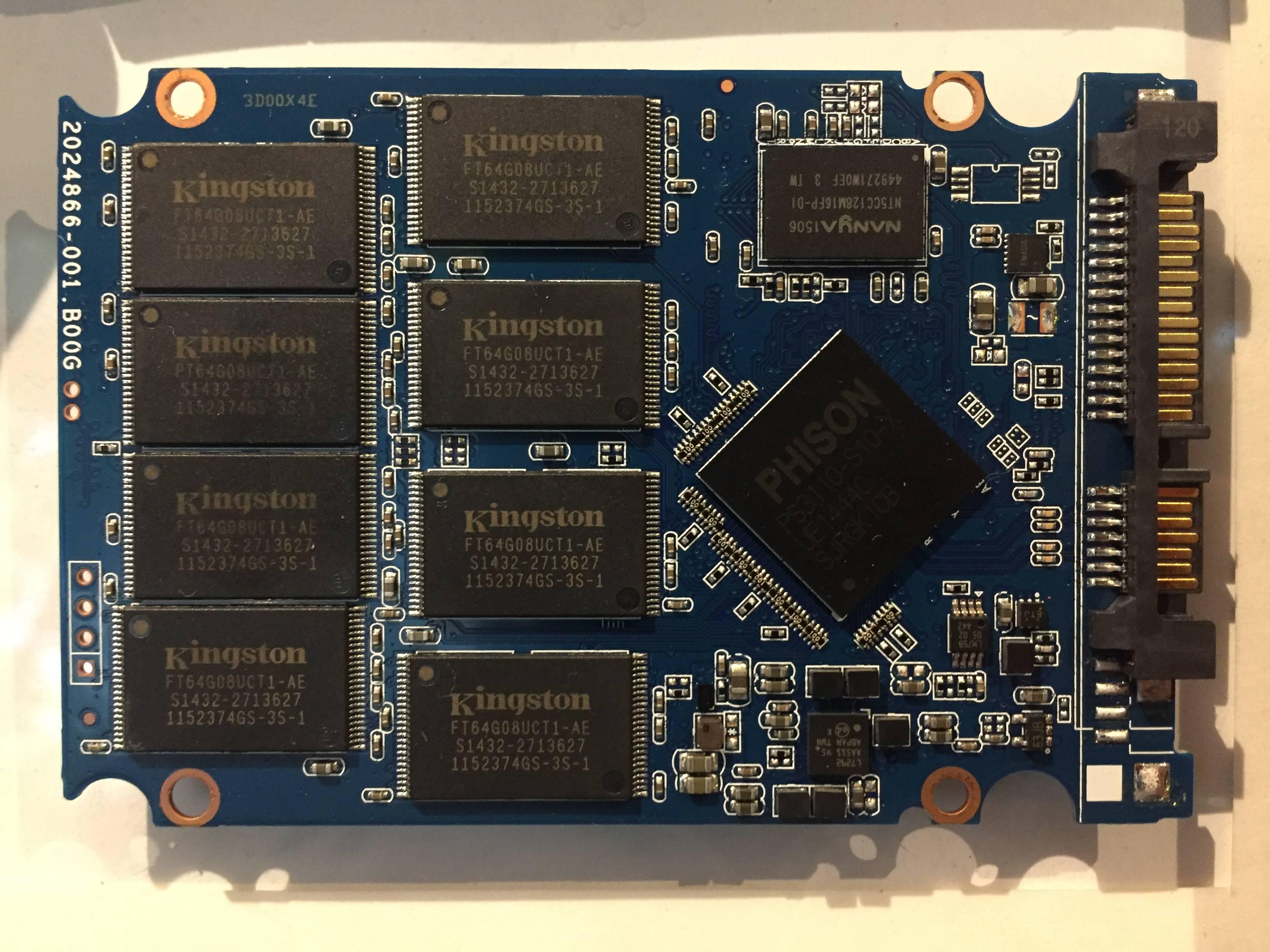 El interior de un SSD