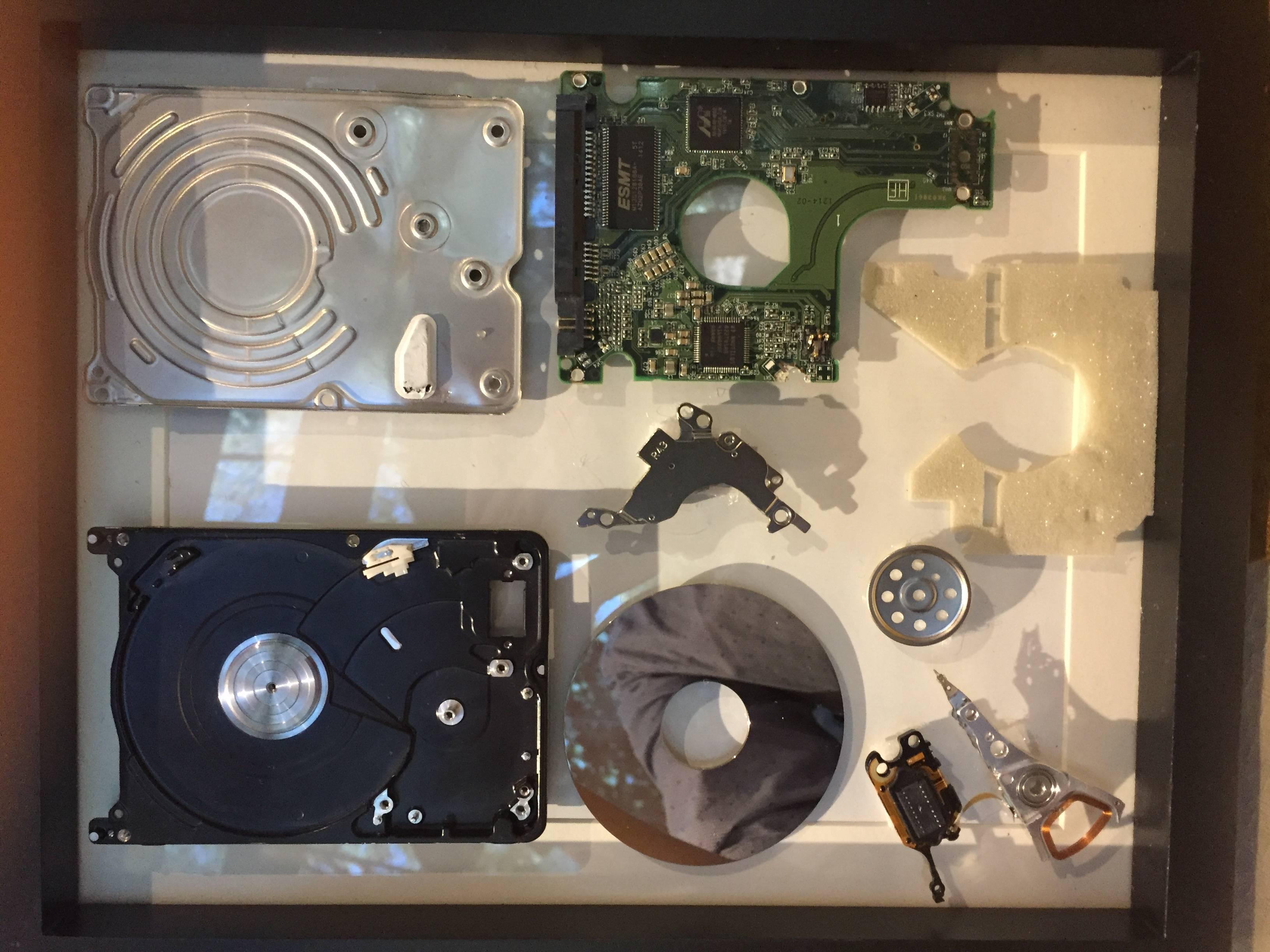 los componentes de un HDD