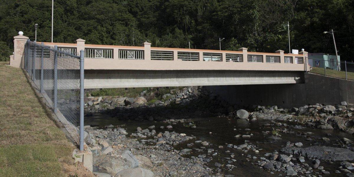 Inauguran puente en Adjuntas sobre río Vacas