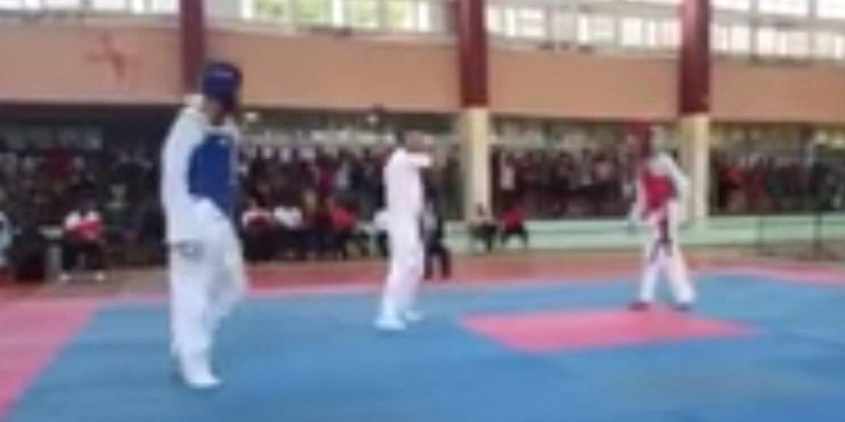 VIDEO. Terrible momento en que un joven muere en una pelea de taekwondo
