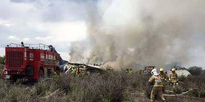 Accidente aéreo en Durango