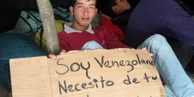 Parterre en terminal de Carcelén, parada de cientos de venezolanos camino a Perú