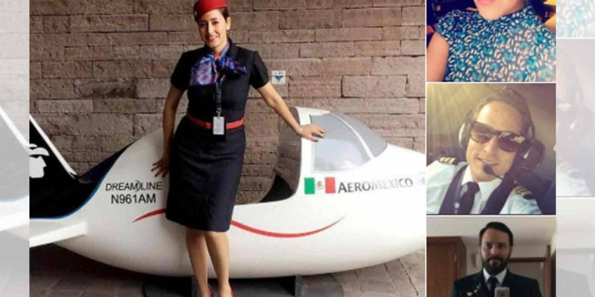 Conoce a la tripulación del vuelo de Aeroméxico que está causando admiración en redes