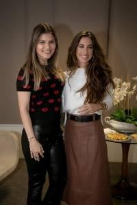 Ariane Perovano e Luiza Sobral na palestra do Vitória Moda 2018