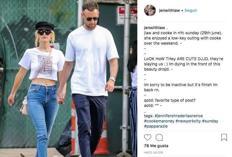 Captan a Jennifer Lawrence con el hombre que sería su nuevo amor