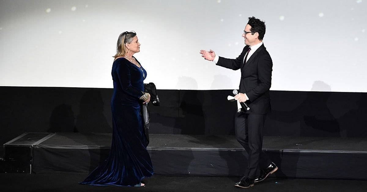 Carrie Fisher e J.J. Abrams