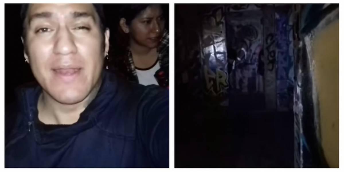 """VIDEO. Viven escalofriante experiencia durante exploración urbana en """"casa embrujada"""""""