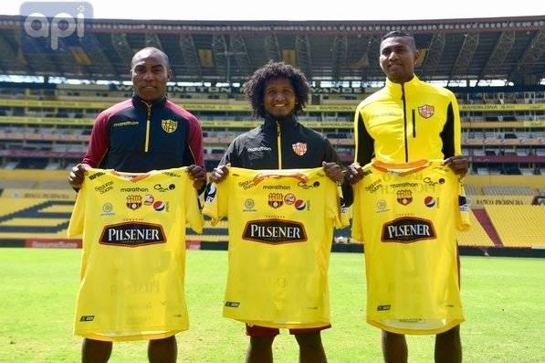 Barcelona SC presentó a José Ayovi, Cristian Alemán y Jofre Guerron como nuevos refuerzos para la segunda etapa del Campeonato Ecuatoriano de Fútbol.