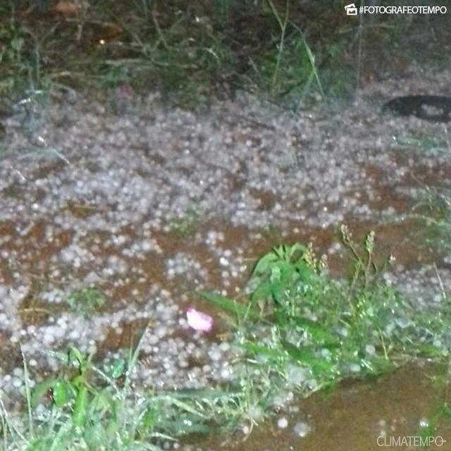 A chuva também atingiu Piraju (SP) Marcia Scarcelli/Climatempo