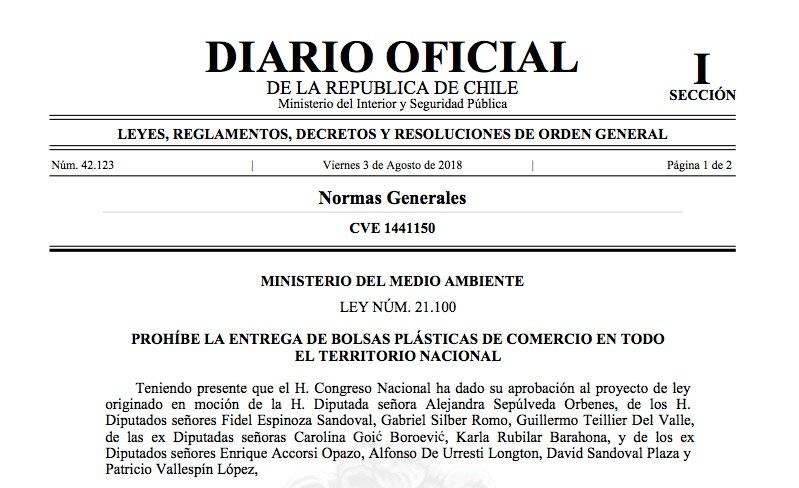 Ya es oficial: comienza el fin de las bolsas plásticas en Chile