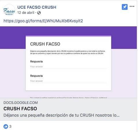 Publicaciones para crush