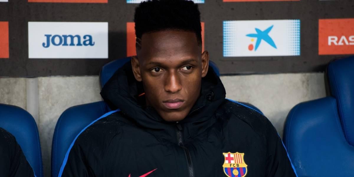 """Yerry Mina """"desapareció"""" de los entrenamientos del Barcelona"""