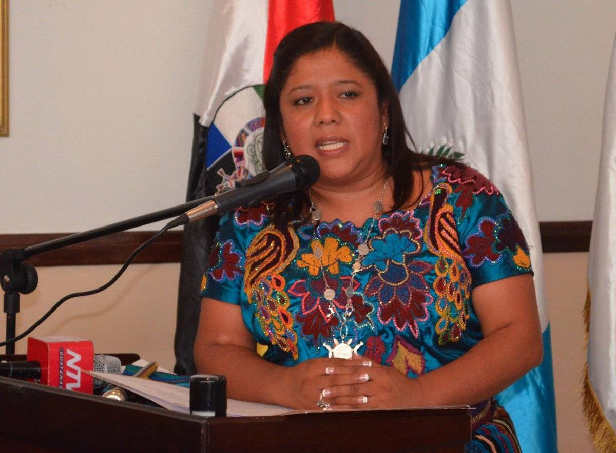 Gloria Laynez, exdefensora de la Mujer Indígena