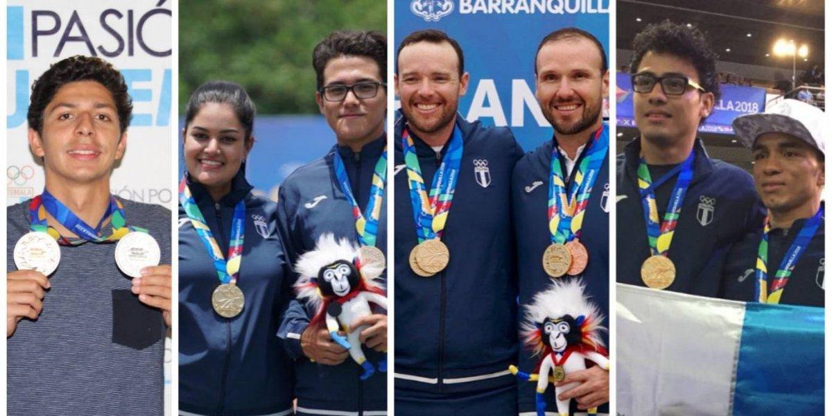Ellos son los guatemaltecos que brillaron con el oro en Barranquilla