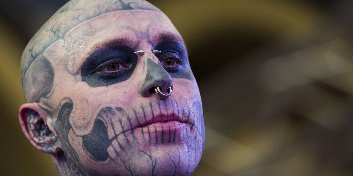 Así despiden al modelo Rick Genest mejor conocido como 'Zombie boy'