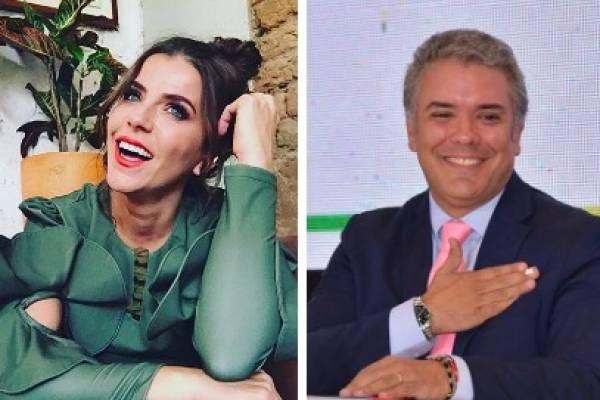 María Fernanda Yepes e Iván Duque