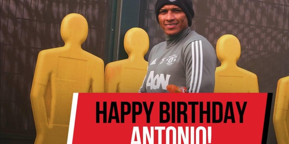Los deseos de cumpleaños del Manchester United para Antonio Valencia