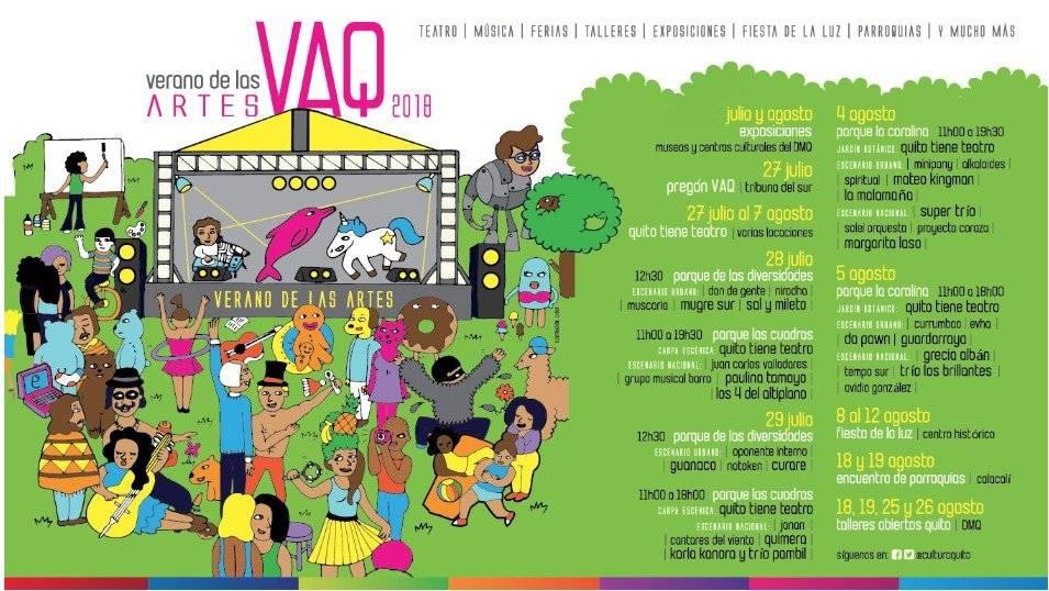 Agenda del Verano de las Artes Quito se traslada a La Carolina