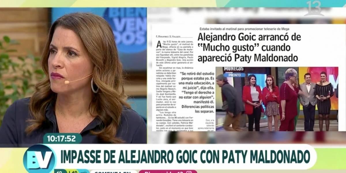"""Monserrat Álvarez y episodio Goic-Maldonado: """"La consecuencia política de Paty no me parece que sea un valor"""""""
