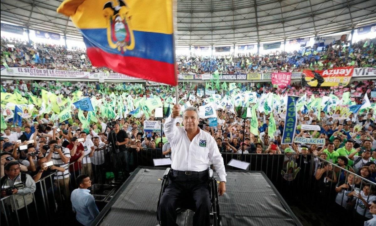 Alianza País ratifica a presidente Lenín Moreno como líder Cortesía
