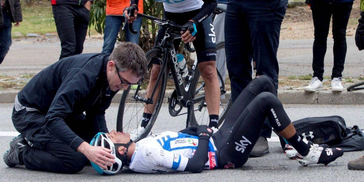 Egan Bernal fue trasladado de urgencias tras fuerte caída en clásica de San Sebastián