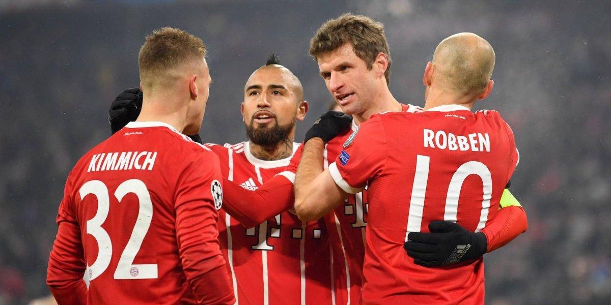 Vidal recibe emotivas palabras de sus ex compañeros del Bayern