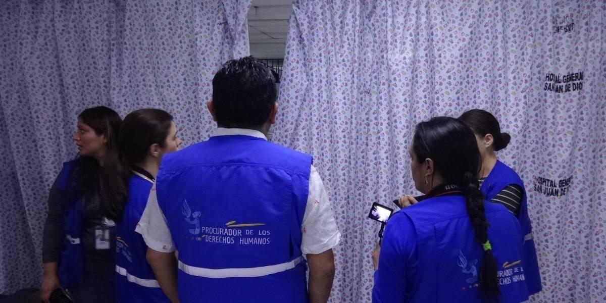 EN IMÁGENES. PDH visita el Hospital General San Juan de Dios