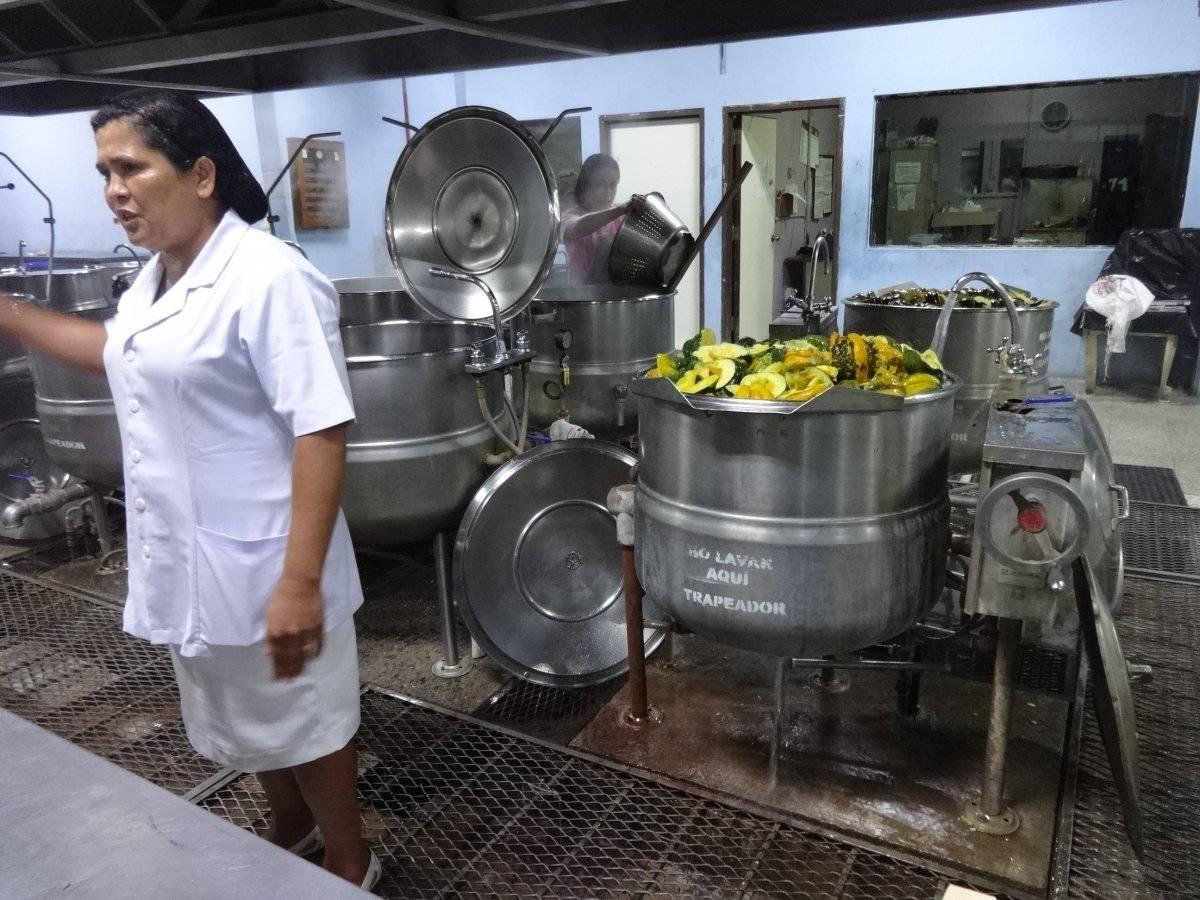 Área de cocina del hospital. Foto: Jerson Ramos