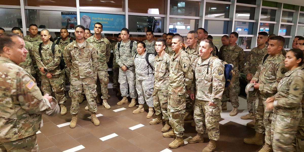 Soldados puertorriqueños parten hacia Polonia para misión de apoyo