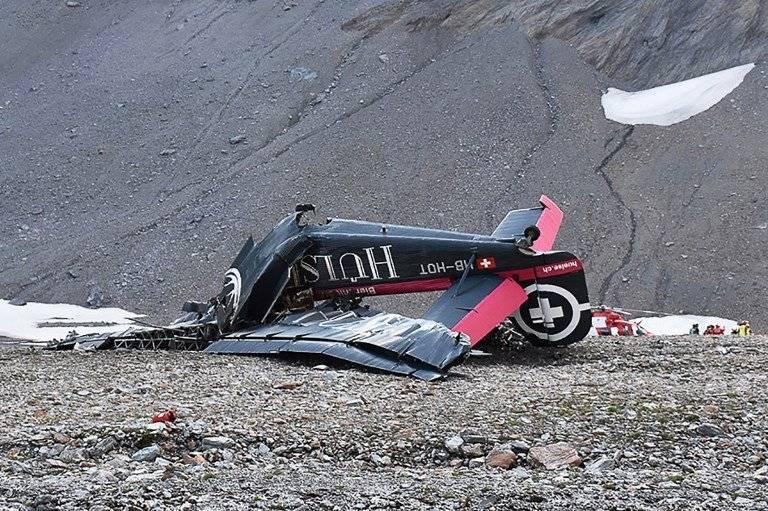 Accidente de avión en Suiza