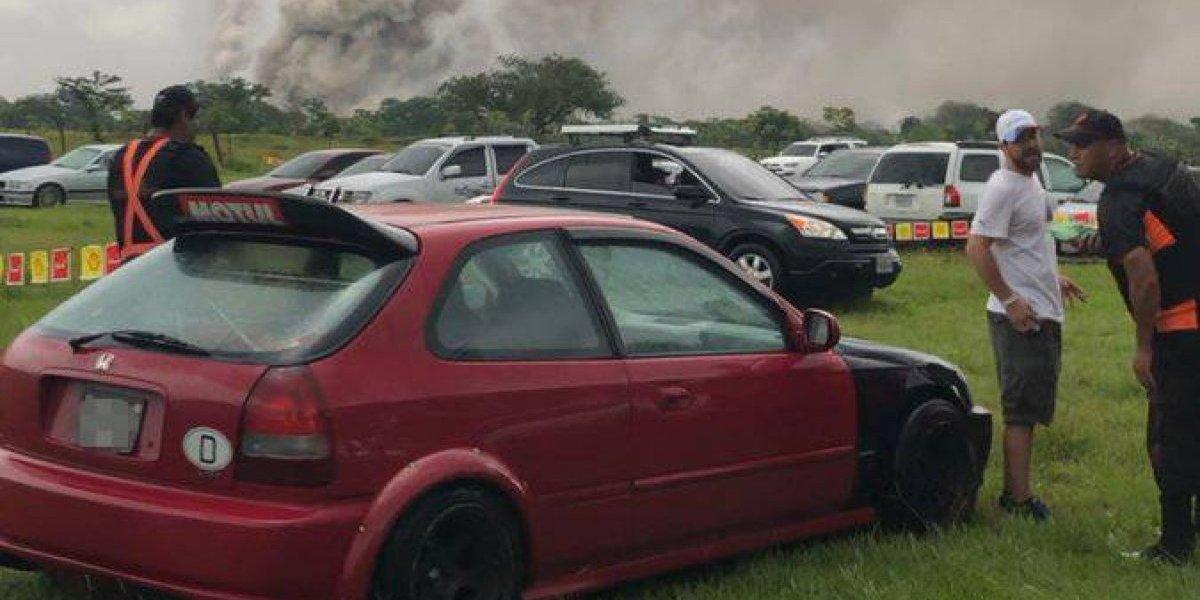 VIDEO. Evacúan preventivamente el Autódromo Pedro Cofiño tras descenso de lahar del volcán de Fuego