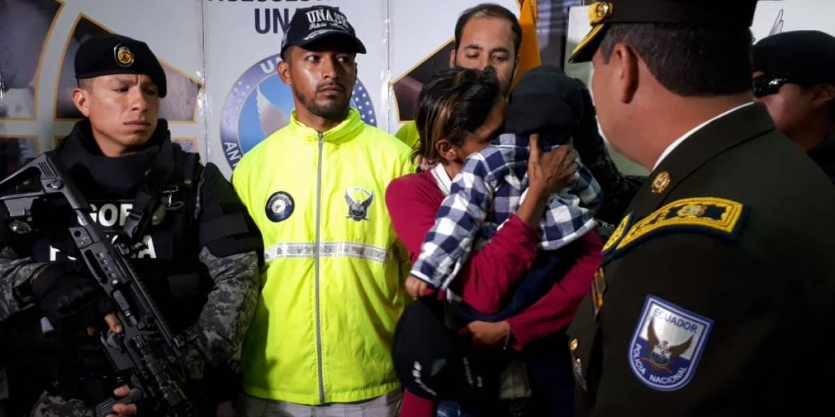 Niño secuestrado en Colombia fue encontrado en Cuenca