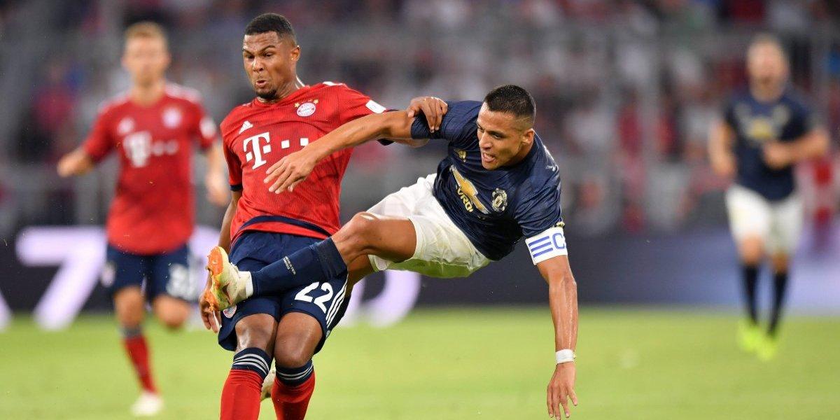 Alexis Sánchez fue capitán en el discreto partido del United ante el Bayern Munich