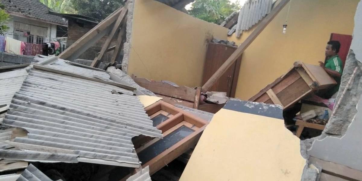 Asciende a 82 muertos tras terremoto 7,0 en isla Lombok en Indonesia