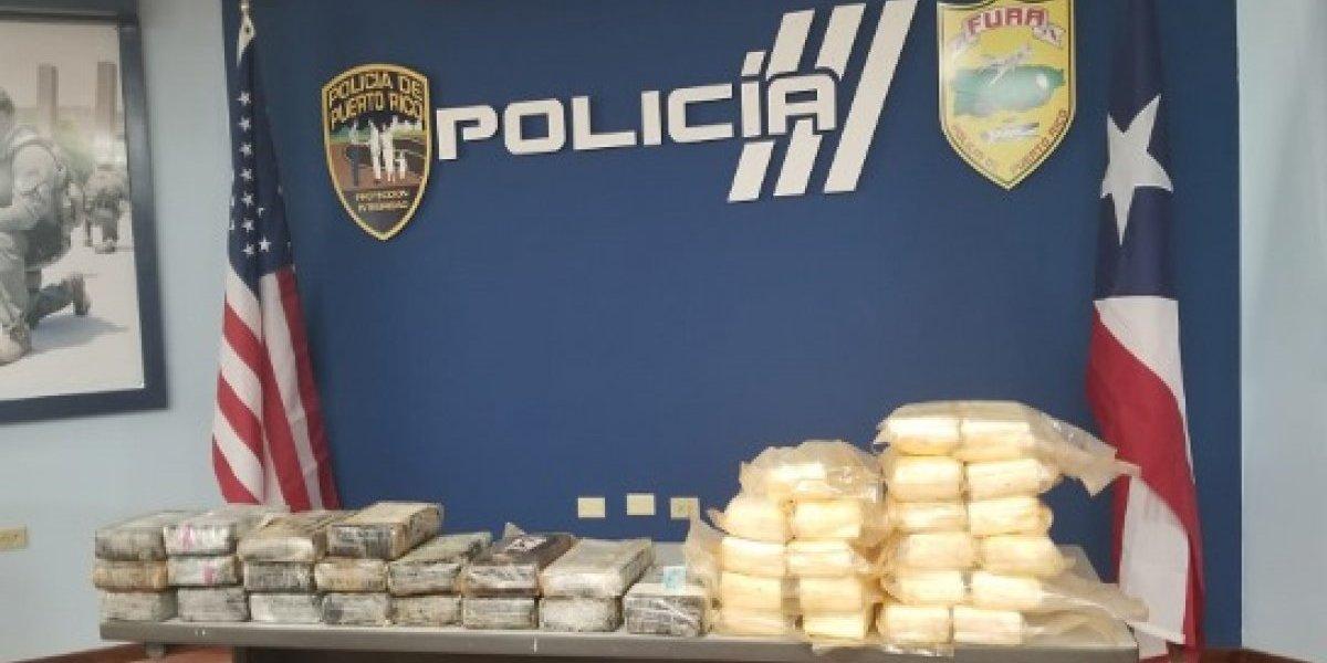 Policía incauta cocaína valorada en un millón de dólares